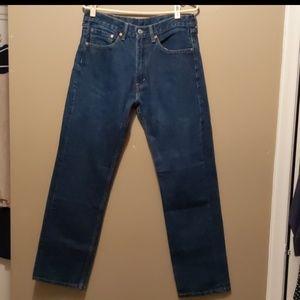 Levi's 505 Men's Jeans Size 33/32 Blue 100% Cotton